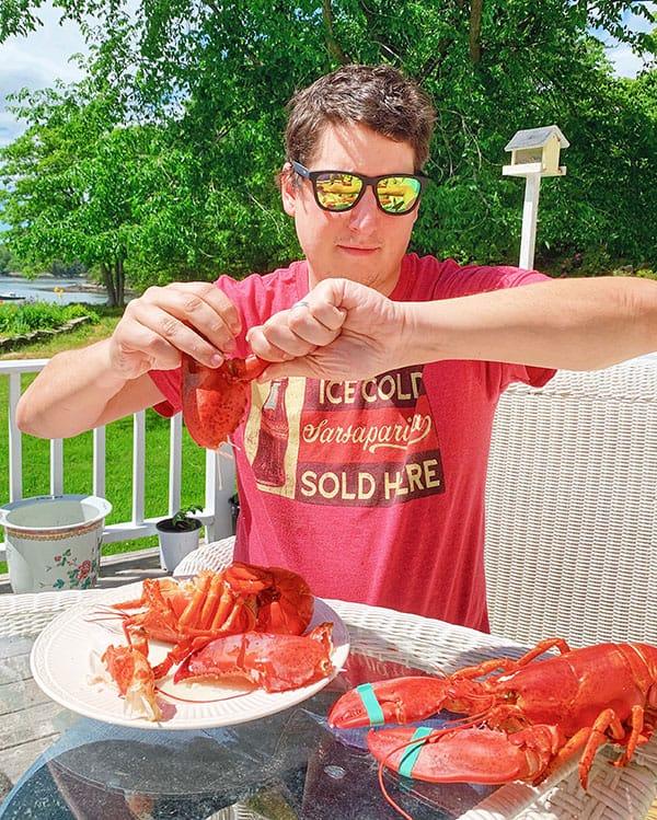 Hot Buttered Lobster Rolls & Wild Blueberry Vinaigrette Salad