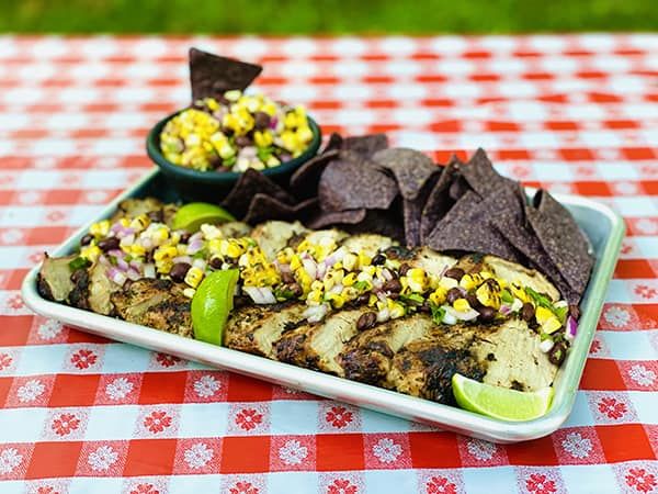 Corn & Black Bean Salsa with Cilantro Lime Pork Tenderloin