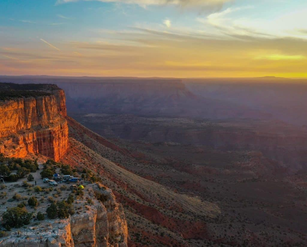 Camping at Twin Point Overlook, Grand Canyon National Park