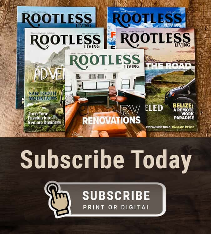 Subscribe to Rootless Living Magazine